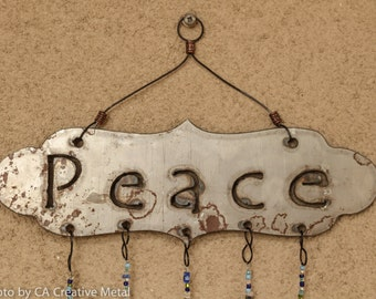 Peace Wind Chime with 5 Strands of charms