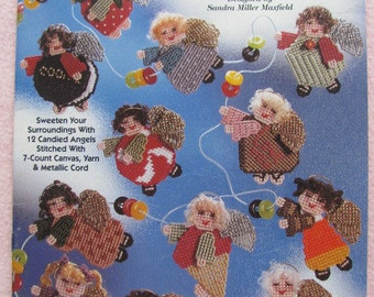 Plastic Canvas Sugarplum Fairies Needlecraft book leaflet