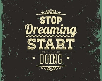 stop dreaming star doing Chalkboard Quotes Clipart Clip Art, Chalk Board Words Clipart Clip Art Vectors - Commercial and Personal Use