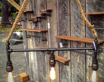 Industrial Pipe Light with Pulley