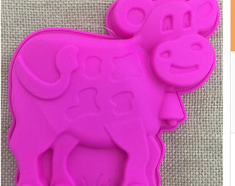 Calves, cows, dogs silicone mold, fondant cake, chocolate, baking tools, pudding mold, jelly mold