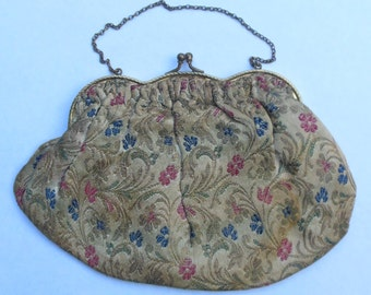 Vintage Antique Embroidered Purse from the 1940s