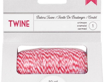 Amercan Crafts Baker's Twine Spool (50 Yards) - Crimson