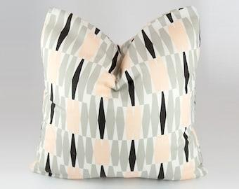 Pink gray black Pillow cover, Geometric Throw Pillow Cover, Pink black Gray Geometric Pillow, Pillow Covers, Pink, Gray, Black,  White