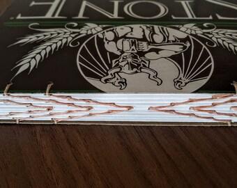Stone IPA Beer Book, Handbound Coptic Stitch Journal, Sketchbook