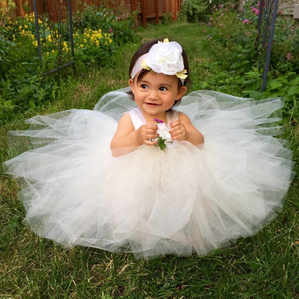 Ivory Tulle Flower Girl Dress Wedding Flower Girl Dresses for