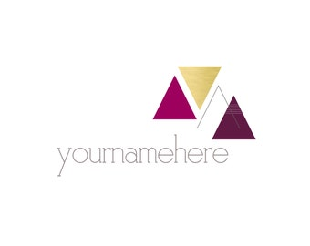 Modern Triangles Logo & Watermark Design - Branding - Small Business -  Boutique - Photography - Photographer - Shapes - Geometric - Simple