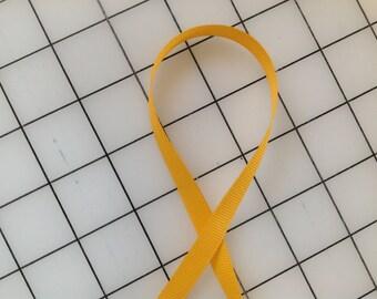 Grosgrain Ribbon Yellow Gold 3/8in - 1 yard
