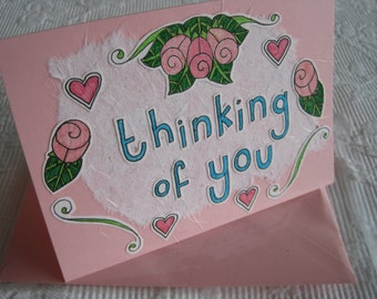 Thinking Of You Sympathy Card - Get Well Soon Card