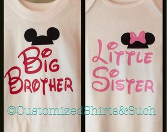 Sibling Set shirt and onesie
