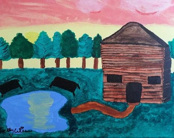 Cabin Painting