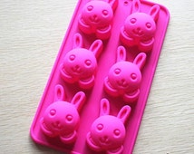DIY Easter Egg Rabbit Cake Mold Soap Mold Flexible  Silicone Mold Crafts Candle Mold Resin Mould Tool