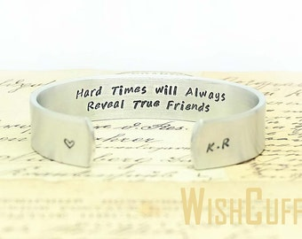 Gifts For Friends- Friends Bracelet, Personalized Cuff Bracelet, Handstamped, Unique Gift, Gift Ideas, Birthday Gift, Bracelet, For Her.