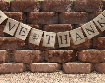 Give Thanks Garland Give Thanks Bunting Give Thanks Banner Thanksgiving Banner Thanksgiving Bunting Thanksgiving Garland Thanksgiving Decor