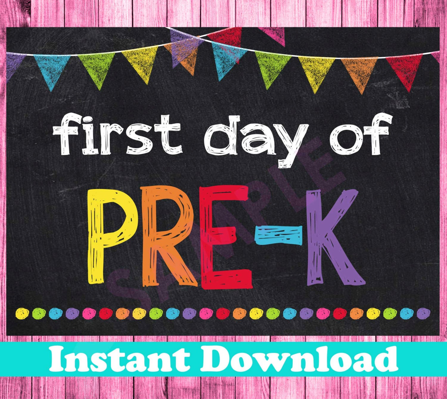 Sly image inside first day of pre k sign printable