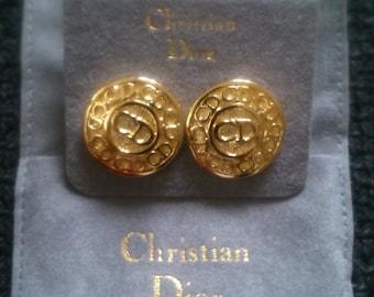 Christian Dior Vintage Earrings. New in original bag.