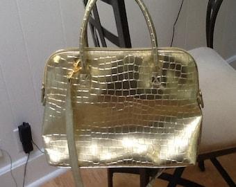 """Large vintage gold bag 10 by 13"""""""