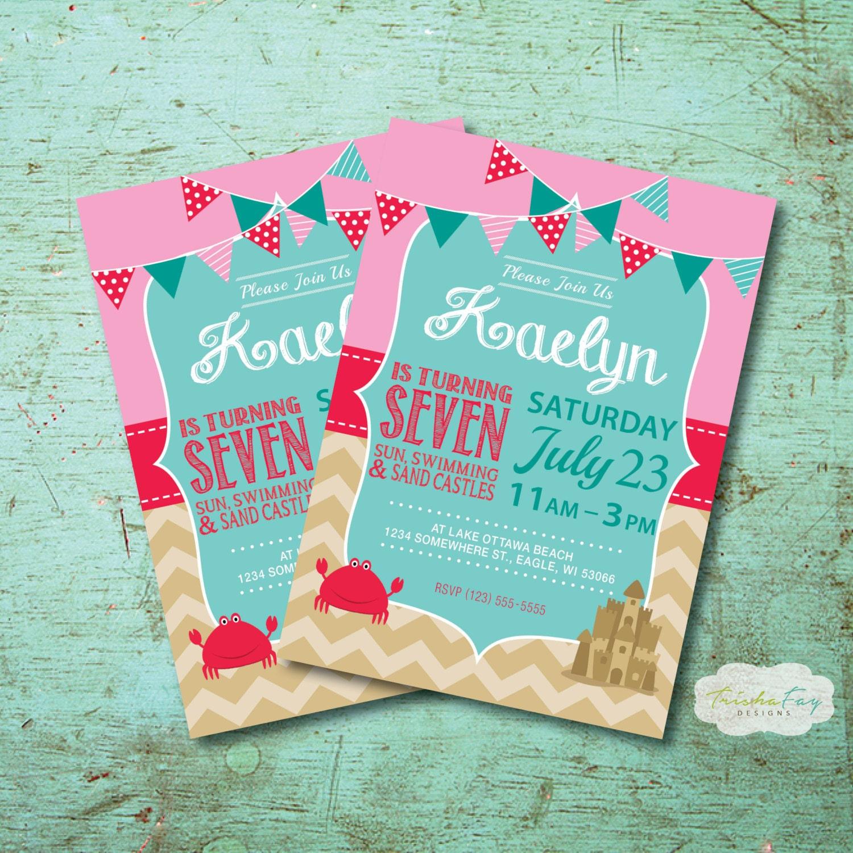 Beach invitation | Etsy