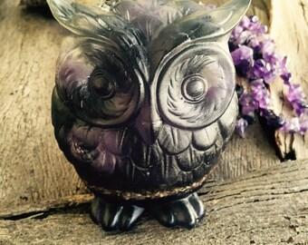 Watch Over Me Owl - Amethyst Crystal Orgon