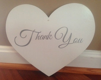 wedding sign- Thank you- great to use in pictures for thank you cards