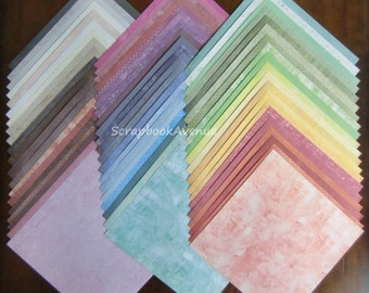 "DCWV The Timeless Texture Stack LOT of 60 Sheets of 12"" x 12"" Scrapbook Paper"