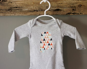 ANY STATE Infant Bodysuit- Triangles