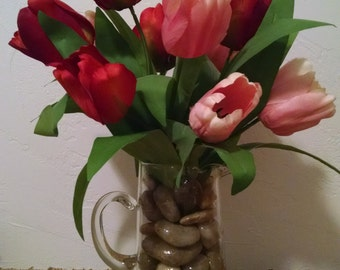 Tulip Silk Flower Arrangement