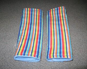 drool pads stripes