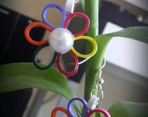 Quilled Paper Earrings, Multicolour Earrings, Paper Quilling Jewelry
