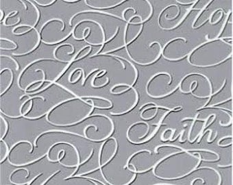 Faith, Hope and Love-Elegant Baby Crib Sheet-Silver by Dance With Joy Baby Bedding