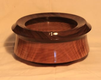 Hand turned wood bowl, maple, walnut and acrylic.