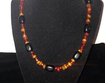 Fire & lava necklace