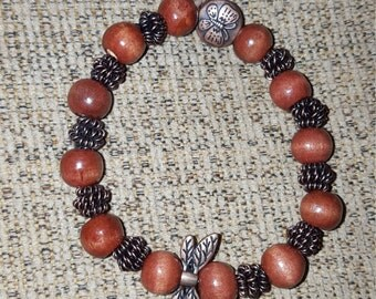 Yoga Bracelet Dragonfly Accent