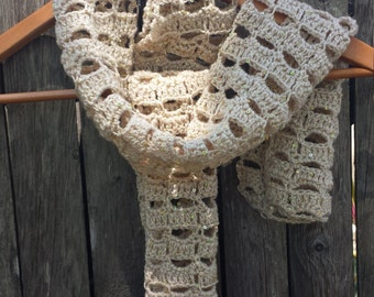 Gold Lacey Scarf