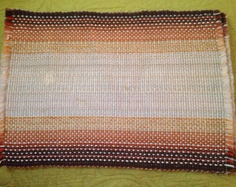 1970s Set of 3 Southwestern Woven Placemats