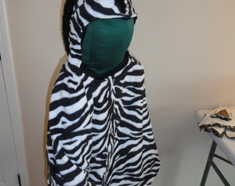 Zebra cape costume,   wheelchair friendly