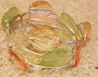 Fall For You Wire Wrapped Bangles