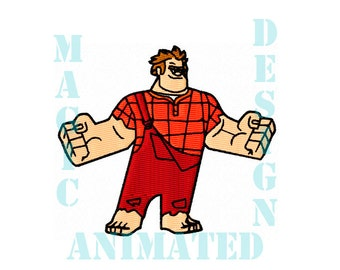 Ralph Machine Embroidery Design in 4X4 ---Instant download---