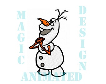 Olaf Frozen Machine Embroidery Design in 4 sizes ---Instant download---