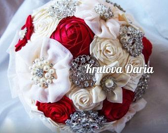 SALE!!! Brooch Bouquet, Red Brooch Bouquet, Bouquet,