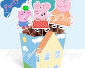 """Printable Centerpiece """" Peppa Pig"""" (Instant download)"""