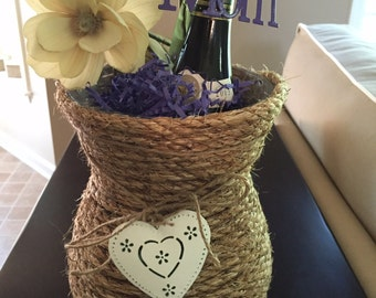 Rope Vases with decorations