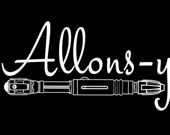 Allons-y / Doctor Who Vinyl Car Decal
