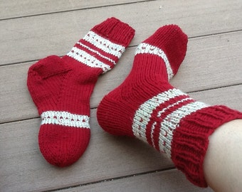 Hand knit thick socks