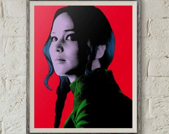 Katniss Everdeen,Hunger Games,Pop Art Portrait,Mockingjay,Andy Warhol Art,Jennifer Lawrence,Digital Download,Instant Download,Printable Art