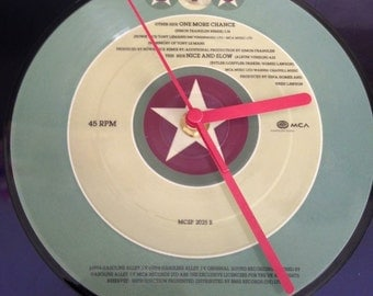Hand made record clock, inserts will vairy