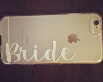 Bride & Mrs iPhone Case - Customization Available