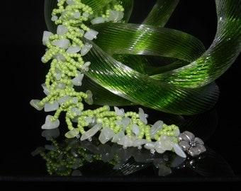 "FT260 Lime Green Fringe Bracelet, Size 7.5"""