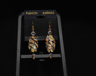 Warm Tones Designer Bead Earrings
