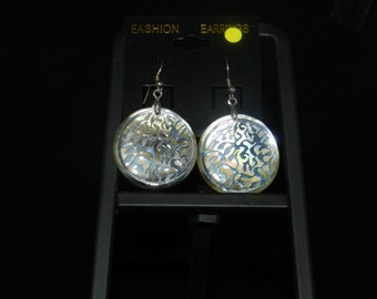 Etched Shell Earrings